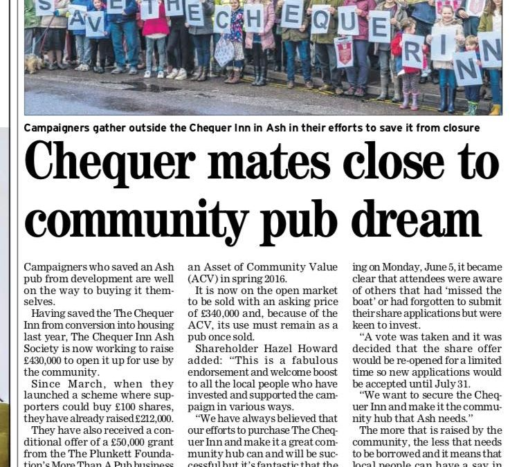We are in the Kent Online paper